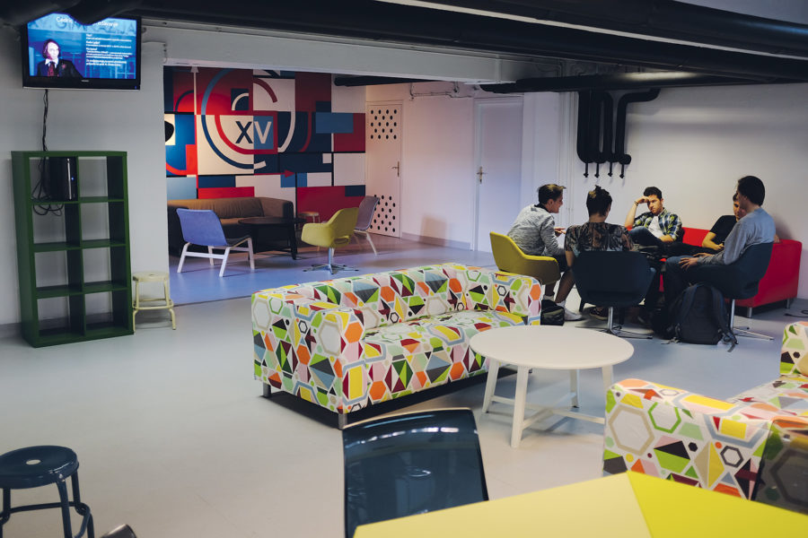 MIOC students turned old basement into a classroom and social area