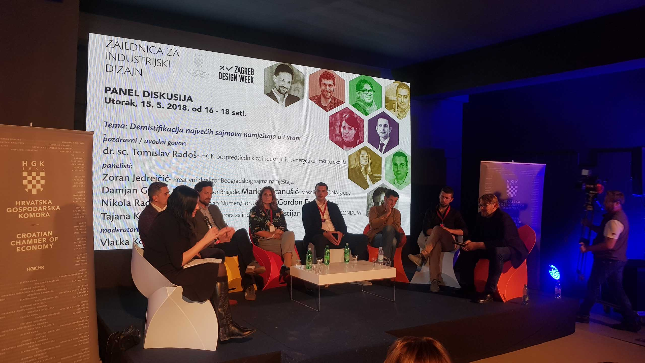 """Panel discussion entitled """"Demystifying Europe's biggest furniture fairs"""" at Zagreb Design Week"""
